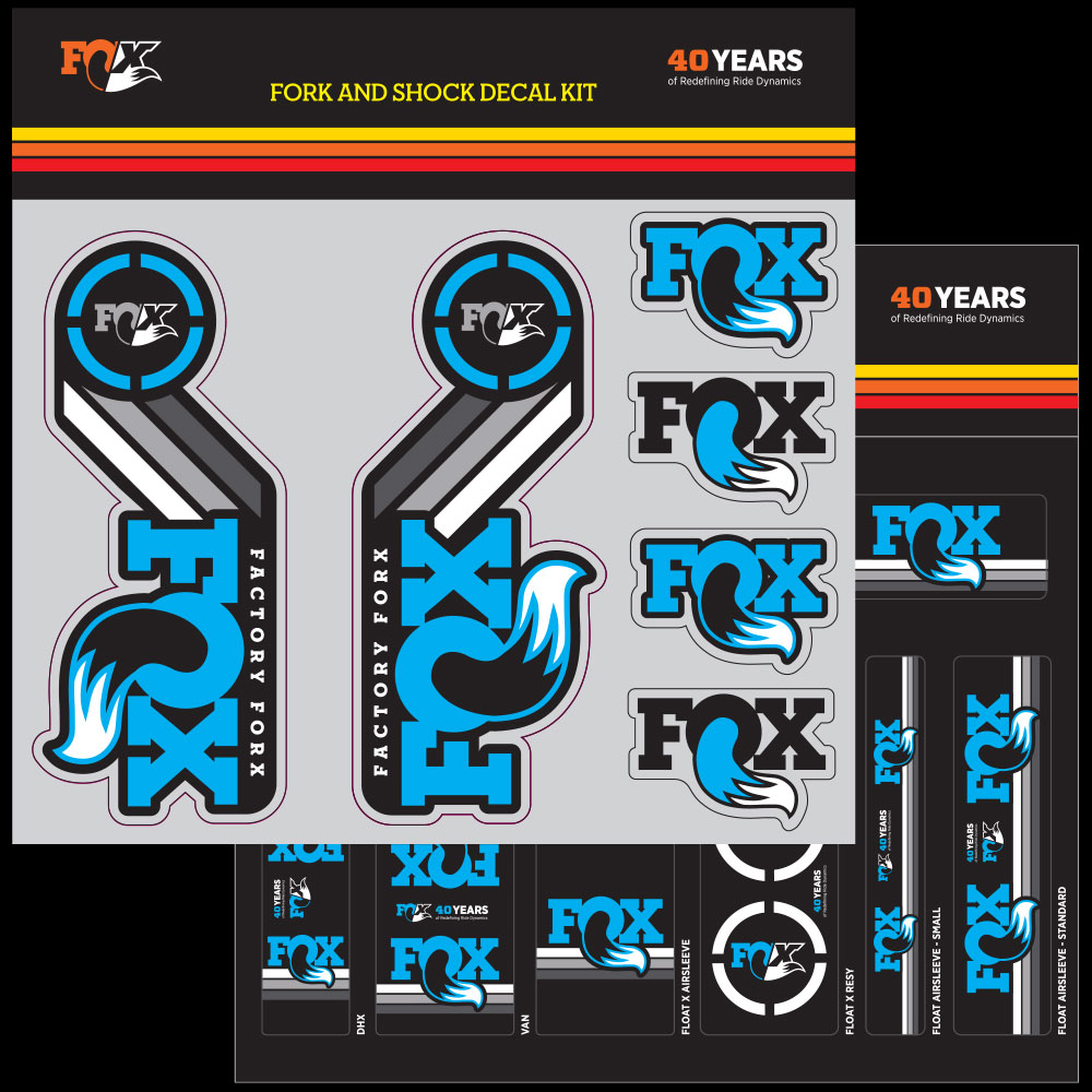 Fox Décalque Autocollant Heritage set fourche à ressort 32 32 32 34 36 AMORTISSEUR FLOAT CTD x 4b44c0